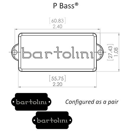 Bartolini 8CBP P Bass Pickups Dimensions