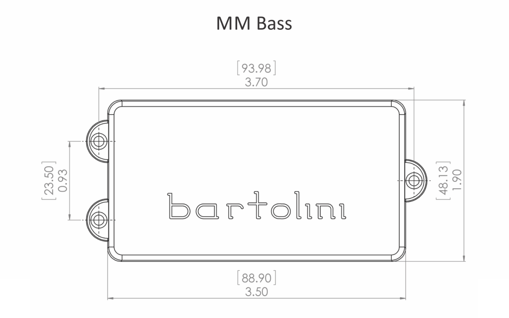 Bartolini MMC Music Man Pickup Dimensions